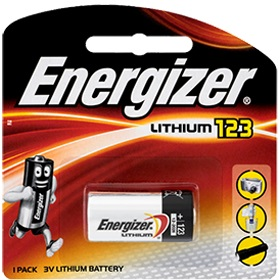 Energizer Lithium 123 Battery 1 Piece Pack