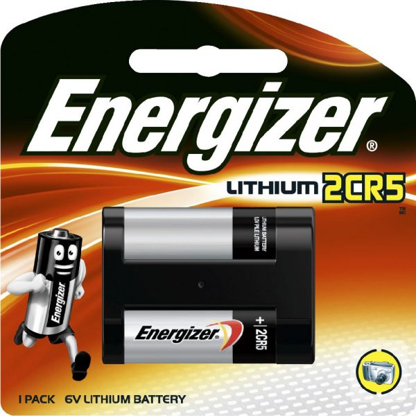 Energizer Lithium 2CR5 Battery 1 Piece Pack