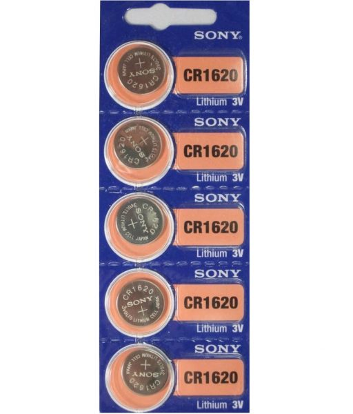 Sony CR1620 Lithium Coin Battery 5-pc Pack