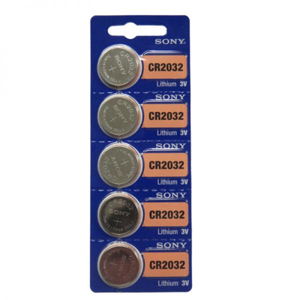 Sony CR2032 Lithium Coin Battery 5-pc Pack