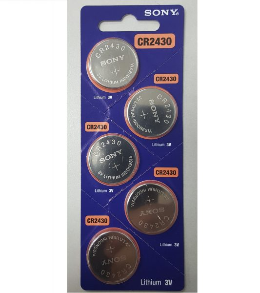 Sony CR2430 Lithium Coin Battery 5-pc Pack