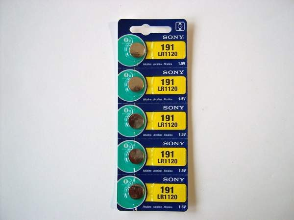 Sony 191 LR1120 Mini Alkaline Battery 5-pc Pack