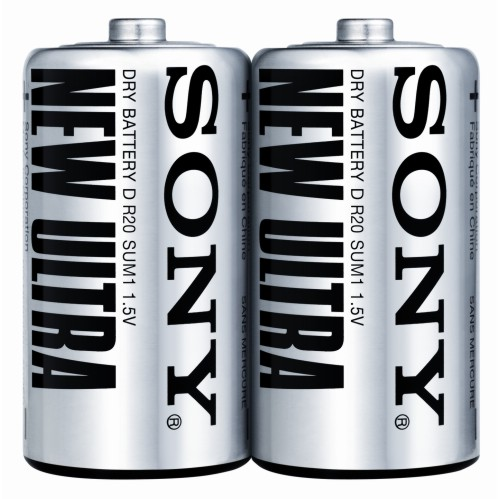 Sony D size battery Carbon Zinc New Ultra batteries