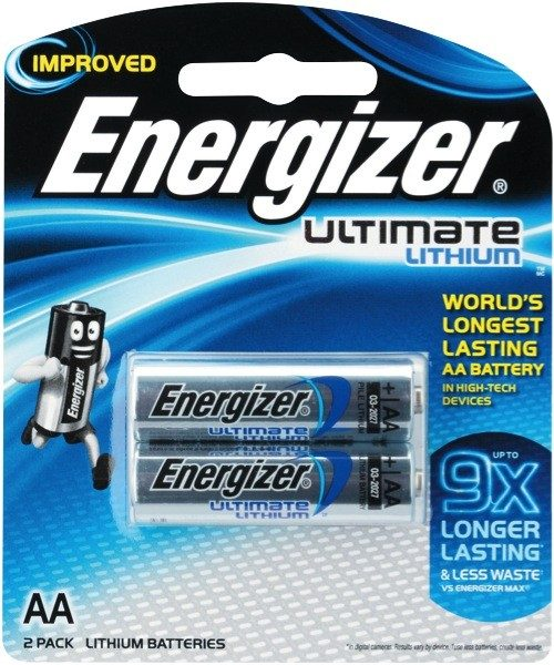 Energizer AA Ultimate Lithium Batteries 2 Piece Pack