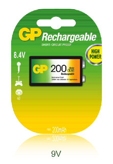 GP Rechargeable 9V