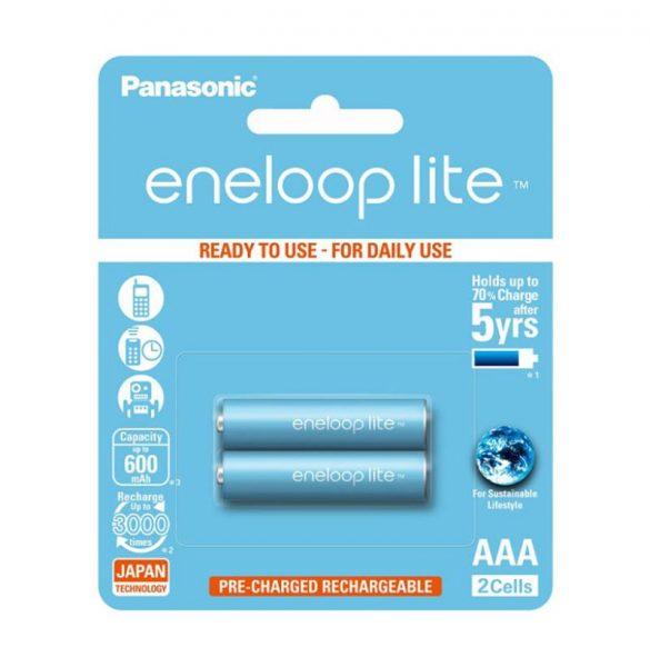 Panasonic Eneloop Lite AAA Rechargeable Batteries 2 piece pack