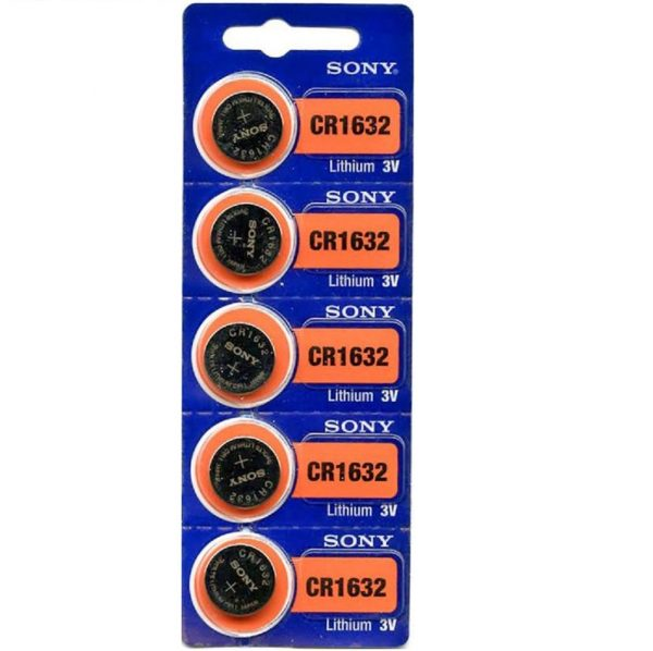 Sony CR1632 Lithium Coin Battery 5-pc Pack