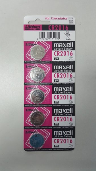 Maxell CR2016 Lithium Coin Battery 5-pc Pack
