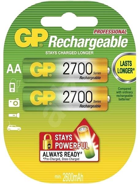 GP Rechargeable 2700 Series AA 2 pieces rechargeable battery 2600mAh