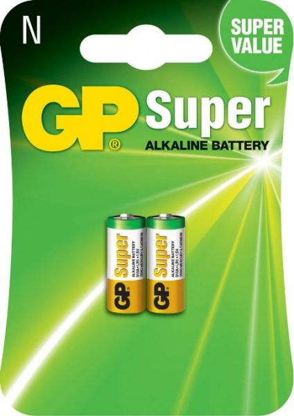 GP N size Alkaline Battery 2 pieces – same battery as MN9100, 910A, LR1, E90