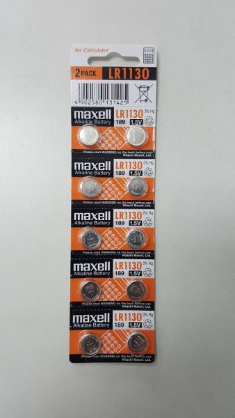 Maxell 189 LR1130 Alkaline Battery 10-pc Pack