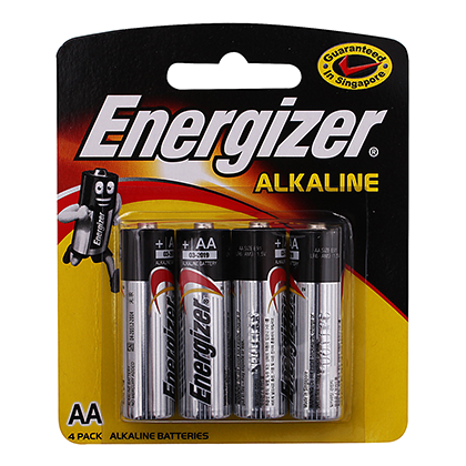Energizer Alkaline Batteries AA 2pc, 4pc, 6pc Pack