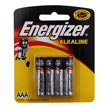 Energizer Alkaline Batteries AAA 2pc, 4pc, 6pc Pack
