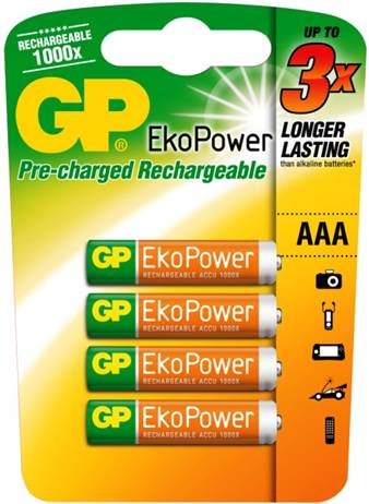 GP batteries EkoPower 4pc AAA Rechargeable battery 600mAh