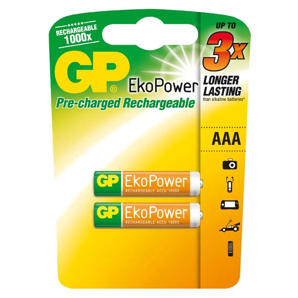 GP batteries EkoPower 2 pieces AAA Rechargeable battery 650mAH