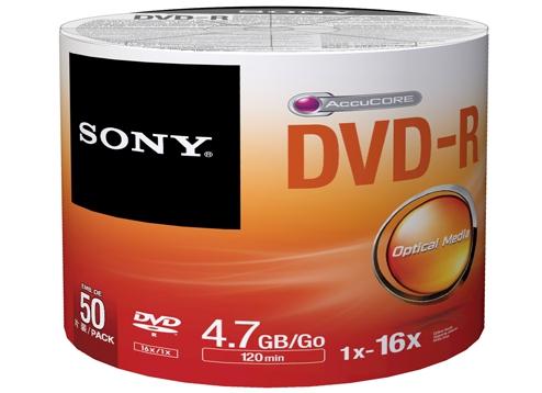 Sony DVD-R Blank Disc 50pcs Bulk Pack 4.7GB Recording Media