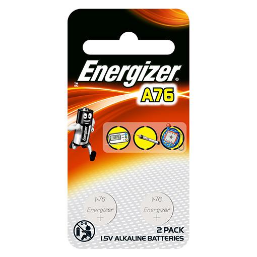 Energizer A76 LR44 Alkaline Battery 2 Piece Pack