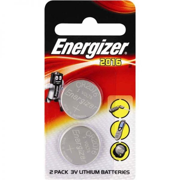 Energizer CR2016 Lithium Battery 2 Piece Pack