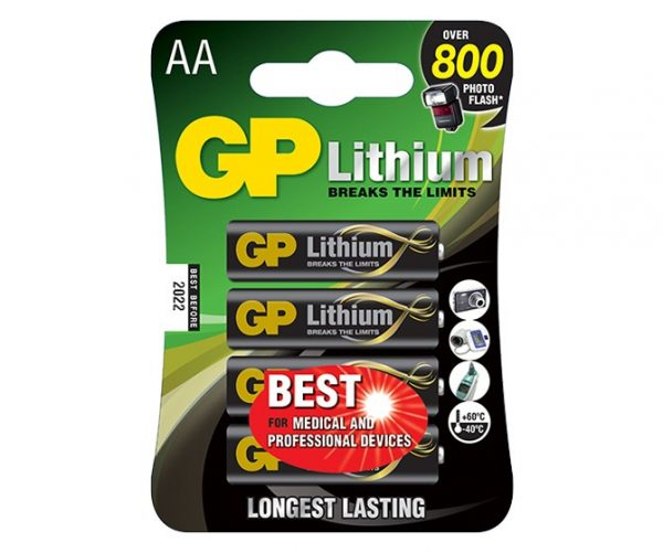 GP Lithium AA x 4pcs Battery Pack – Top Performance for High Power Drain Devices