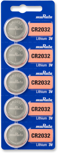 Murata CR2032 Lithium Coin Battery 5-pc Pack – Made in Japan
