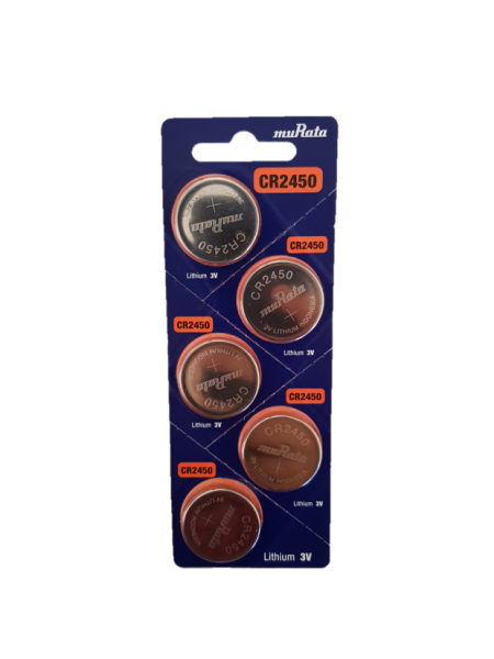 Murata CR2450 Lithium Coin Battery 5-pc Pack – Made in Japan