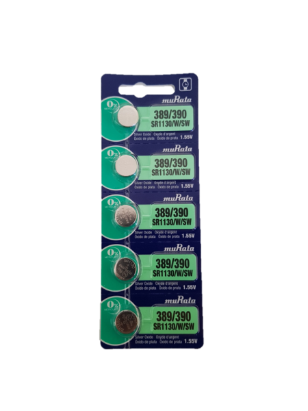 Murata 389/390 SR1130 Watch Battery 5-pc Pack – Made in Japan
