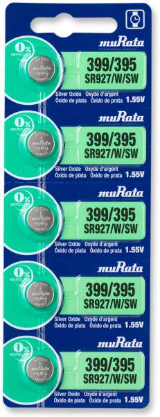 Murata 399/395 SR927 Watch Battery 5-pc Pack – Made in Japan